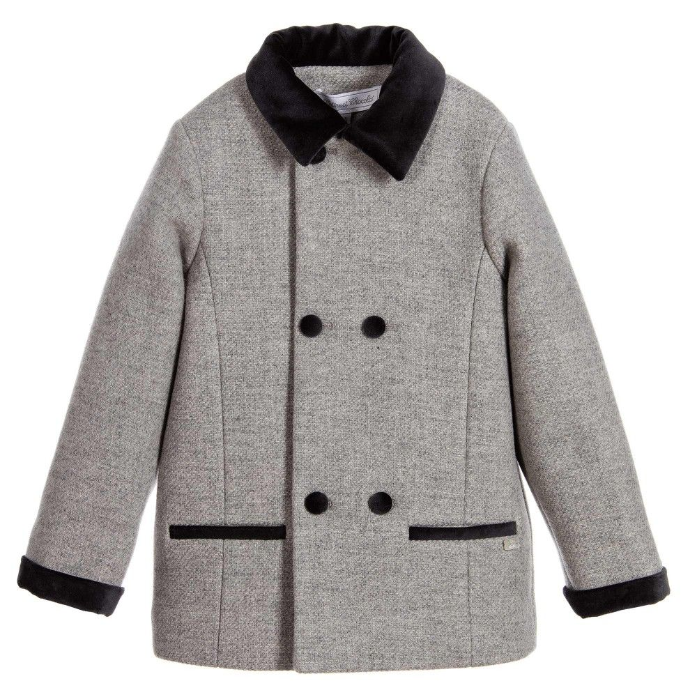 Tartine et Chocolat Boys Grey Wool Coat | JACKETS COATS OUTERWEAR ...