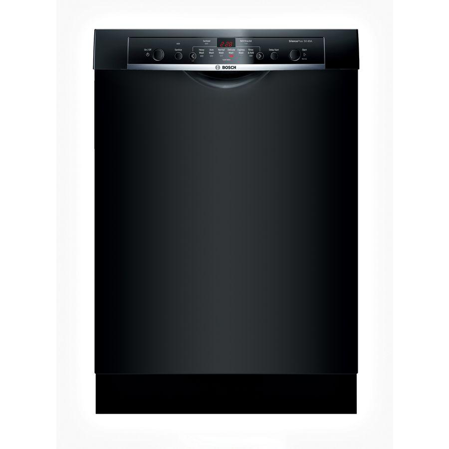 Bosch Ascenta 50 Decibel Built In Dishwasher Black Common 24 In Actual 23 625 In Black Dishwasher Built In Dishwasher Renovation Hardware