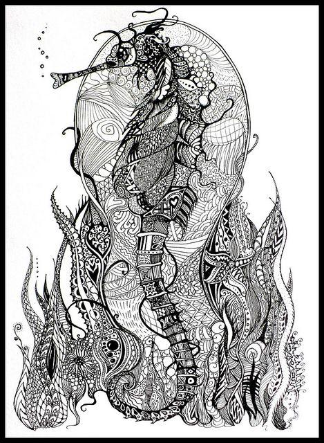 Zentangle Animal Sharpie Art Arte Zentangle Dibujos
