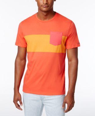 TOMMY HILFIGER Tommy Hilfiger Men'S Slim-Fit Colorblocked Pocket T-Shirt. #tommyhilfiger #cloth #shirts