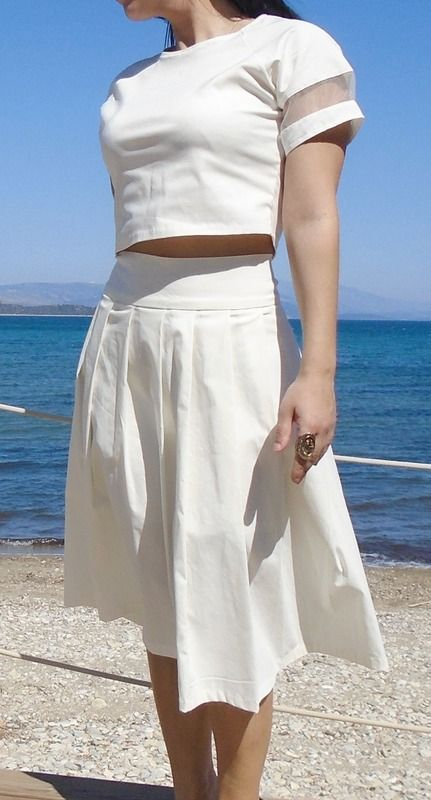 Skirts - skirt with pleats - Women Clothing - DR Collection