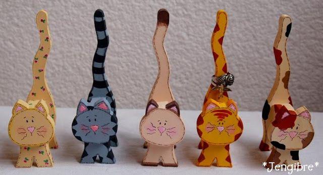 Formas de arte de Gato Gato De Madera Artesanía Formas ideas Gato Craft Gato Ideas de regalos