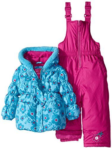 64082c248 cool Pink Platinum Little Girls Snowboard Bubble Jacket and ...