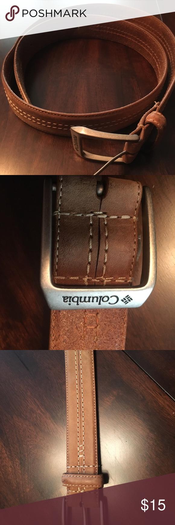 Columbia Sportswear Brown Leather Belt Brown leather