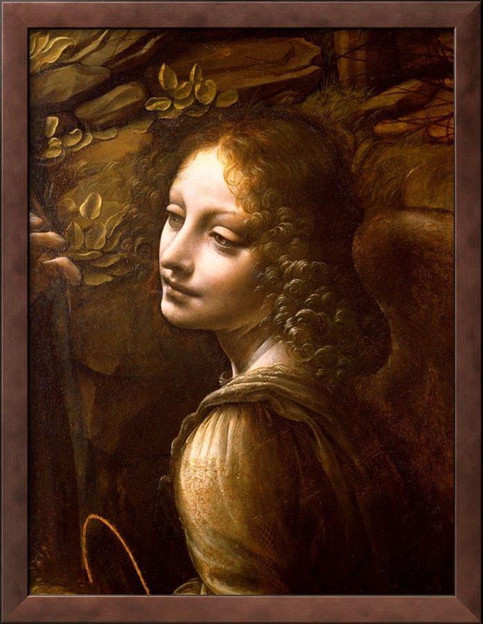Leonardo Da Vince from 'Virgin of rocks' detail of 'Angel'