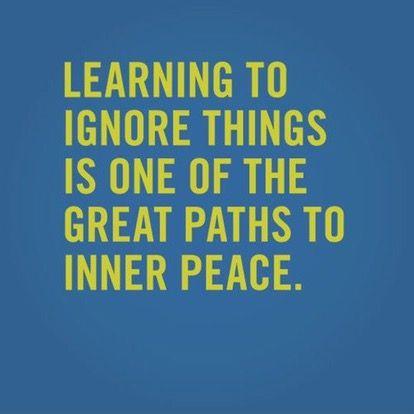 The power of ignoring
