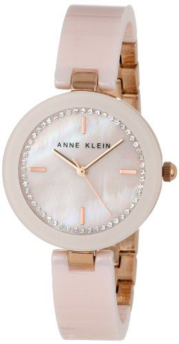 e09e37c8ecf Anne Klein Women s AK 1314RGLP Ceramic Swarovski Crystal Accented Pink  Bangle Watch - http  · Relógios FemininosJoiasMaquiagemFemininaRelógio Cor  De ...