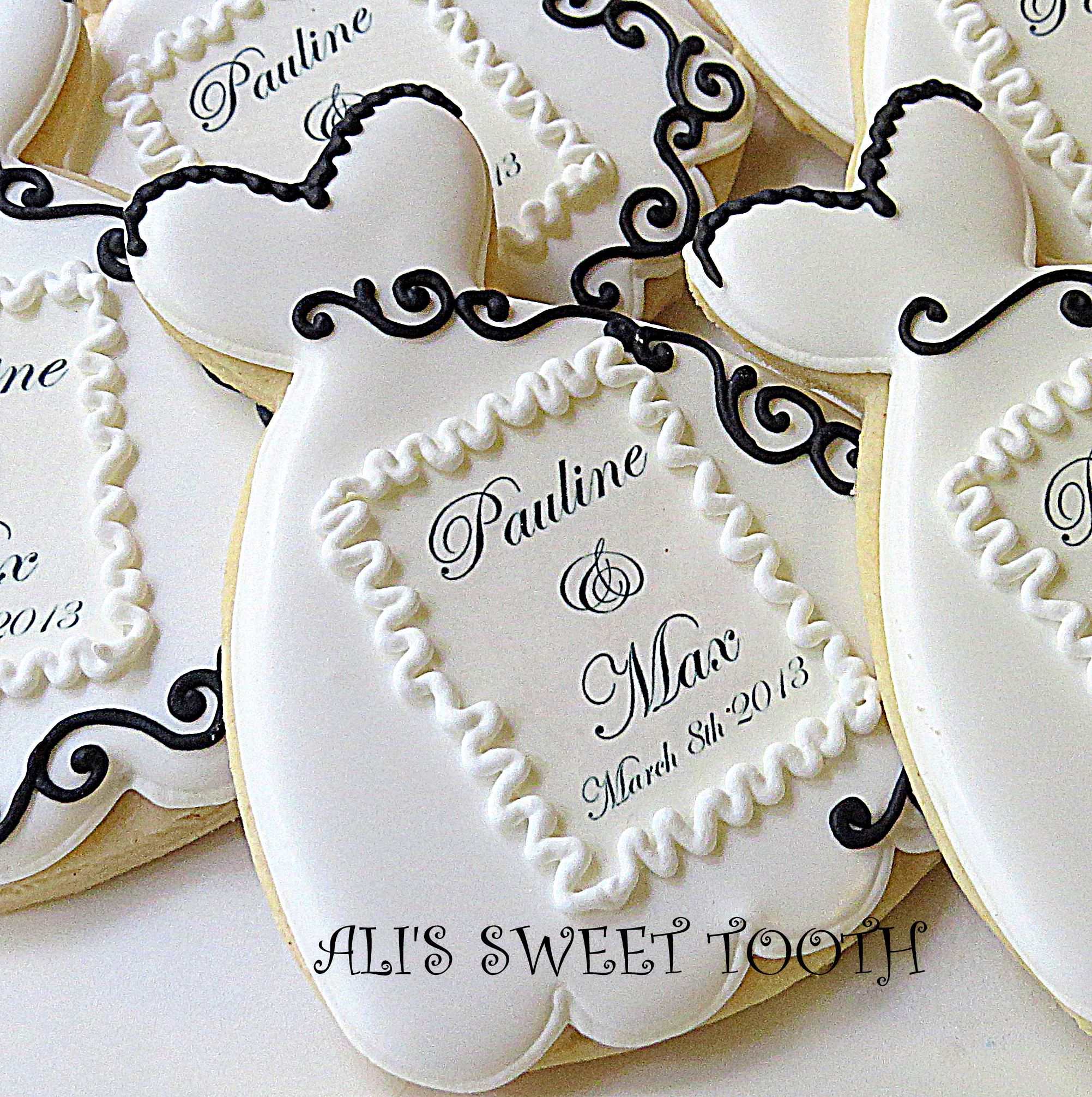 Wedding cookie favors | ideas for wedding cakes | Pinterest | Cookie ...