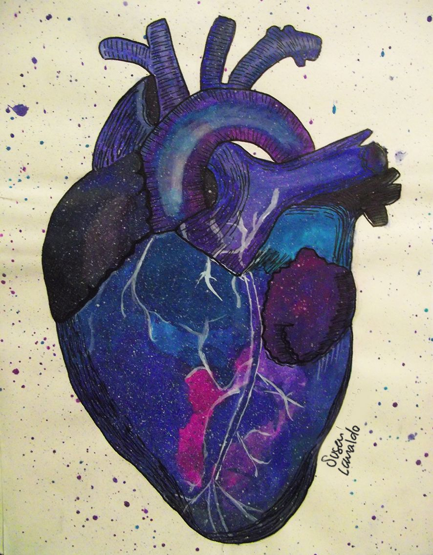 #heart #universe #gouache #watercolor #illustration #love