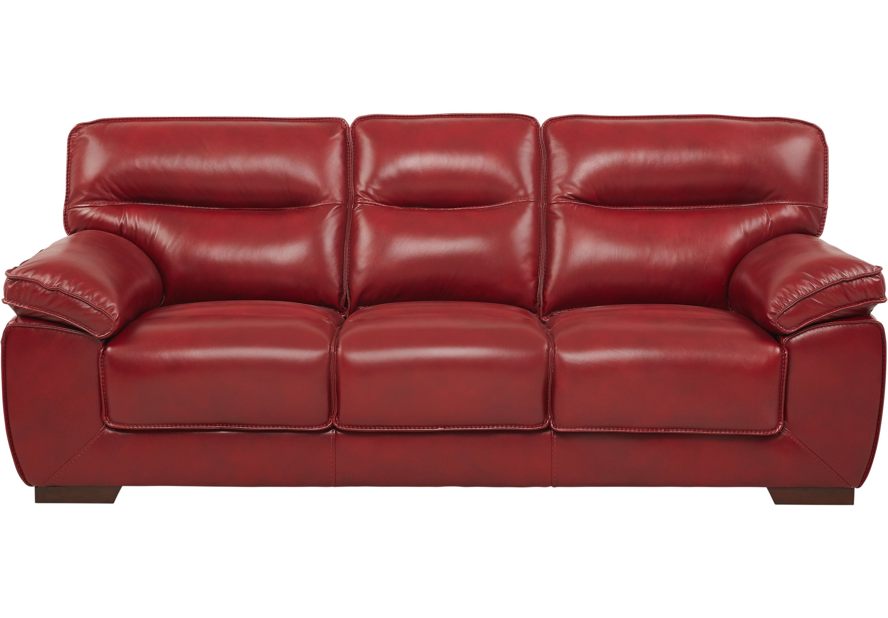 River Place Red Leather Sofa in 2019 | furniture | Red leather ...