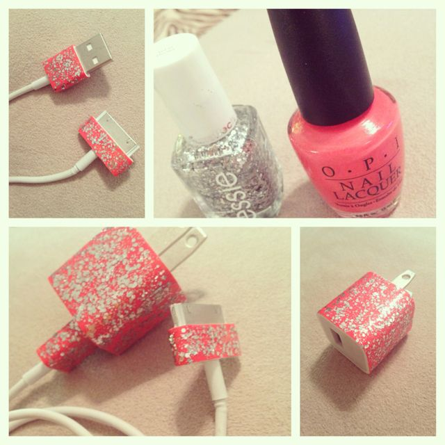 DIY pink sparkly charger! ✨
