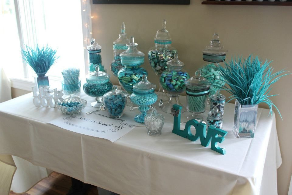 The Number One Pick For The Candy Bar Colors Should Be Purple Silver Black Candy Bar Wedding Candy Buffet Tables Tiffany Birthday