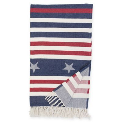 Stars And Stripes Throw Blanket In Bluered Products Magnificent Stars And Stripes Throw Blanket