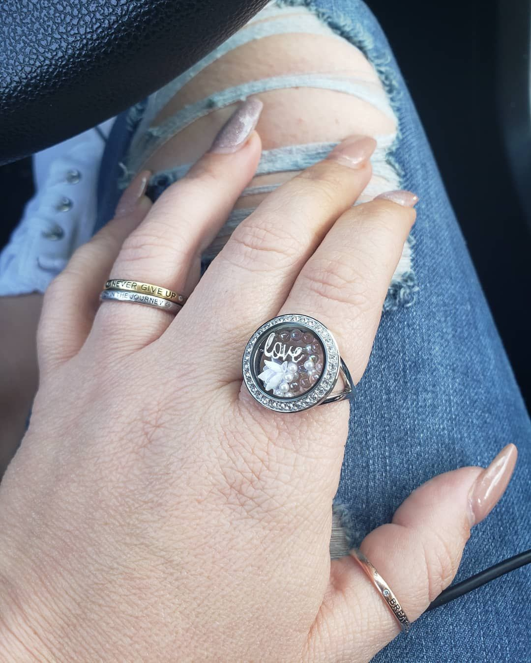 Melting the inches away. In the beginning this locket ring fit on my ring finger only, then my middl...
