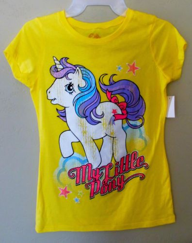 MY LITTLE PONY YELLOW GIRLS THE PRINCESS TEE SHIRT S-XL