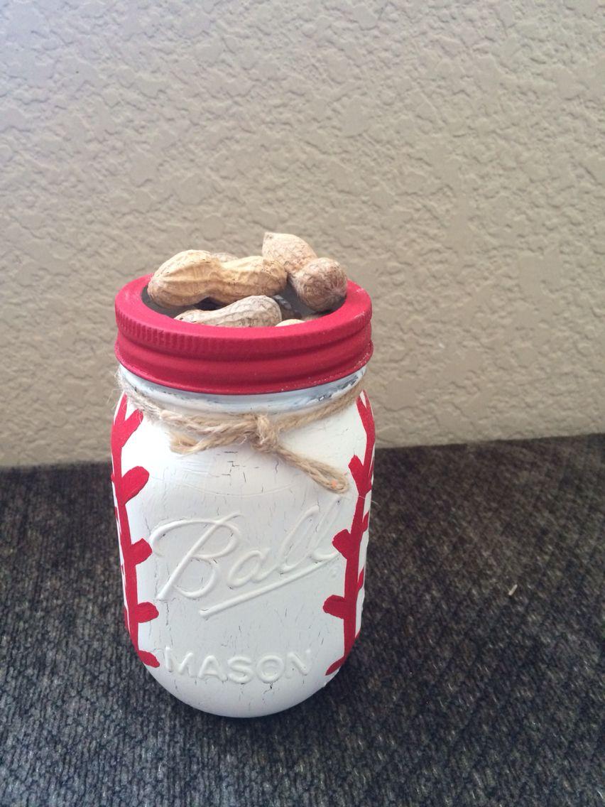 Baseball mason jars for the seniors at the banquet cuteucrafty