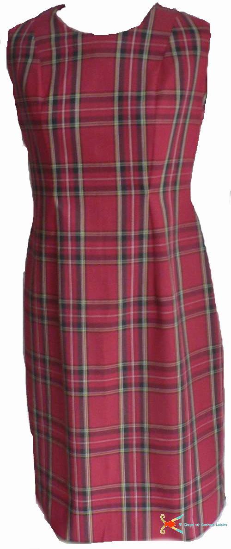 Patron de base d'une robe droite