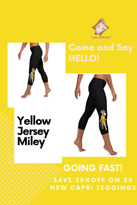 Lolamart Handlebar Gangster Cycling Yellow Jersey Miley Bike Bicycle Sports Leggings