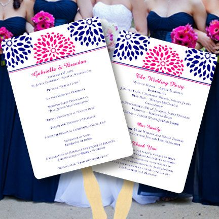 Printable Wedding Program Fan Template  Floral by WeddingTemplates, $10.00