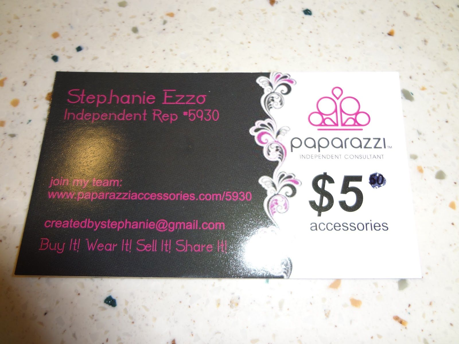 Paparazzi Jewelry Business Card Template And Earring Set - Paparazzi business card template