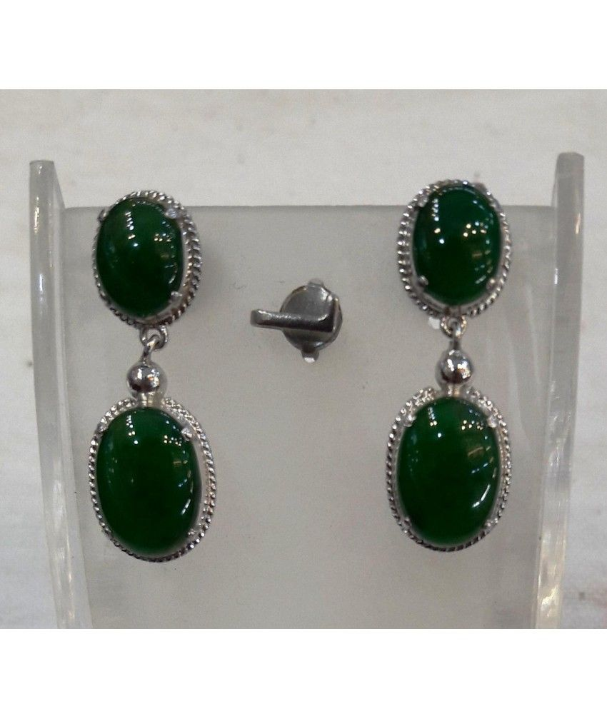 This authentic Myanmar Jade EARRINGS is originally and professionally handmade. It is a unique piece of Myanmar imperial Jade; the first grade material (A type Jadeite). It is 100% Myanmar natural jade.
