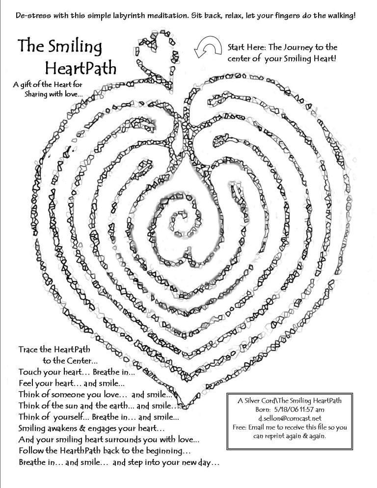 printable finger labyrinth designs could make real labrynth with clients and give poem as well