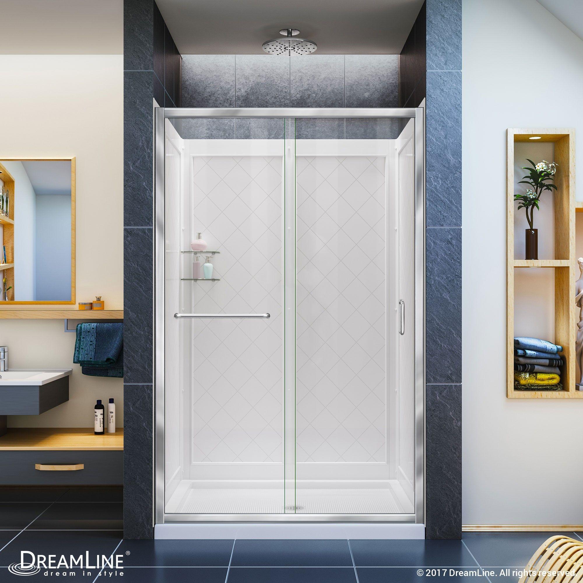 The Dreamline Infinity Z Sliding Shower Door Offers Classic
