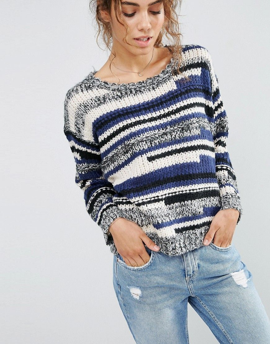Image 3 of QED London Mixed Stripe Jumper