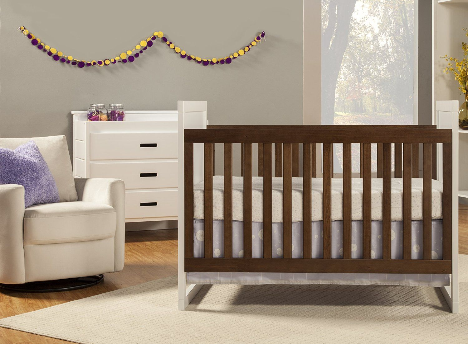 Baby Mod Modena Mod Two Tone 3 In 1 Convertible Crib