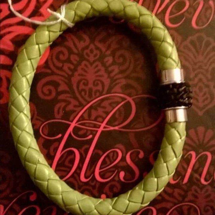 Olive & Black Bracelet from GODIS JEWELZ for $4.00