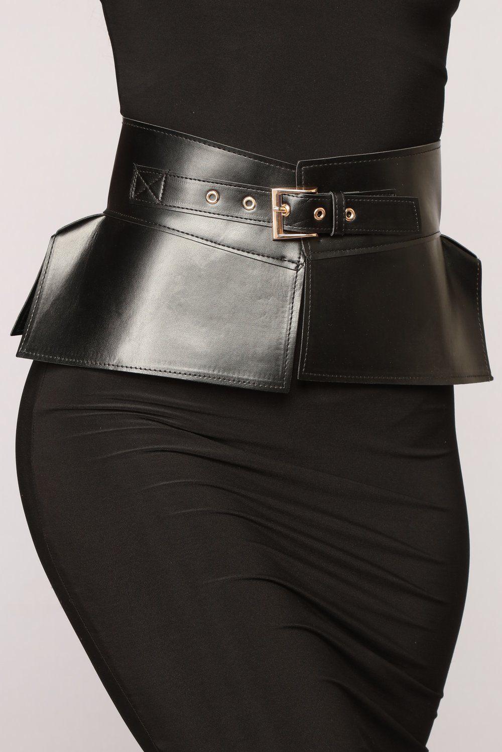 2b92505baa High End Peplum Corset Belt - Black