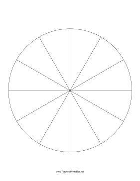 Pie Chart Template-12 Slices Teachers Printables, free to