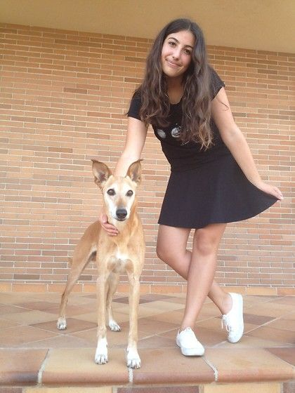 With dog in new skirt :D
