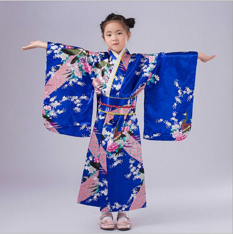 920be833b 5 Cores Crianças gril Crianças Kimono Yukata Haori Yukata Obi Japonês Do  Vintage Vestido de Quimono Japonês Tradicional(China (Mainland))