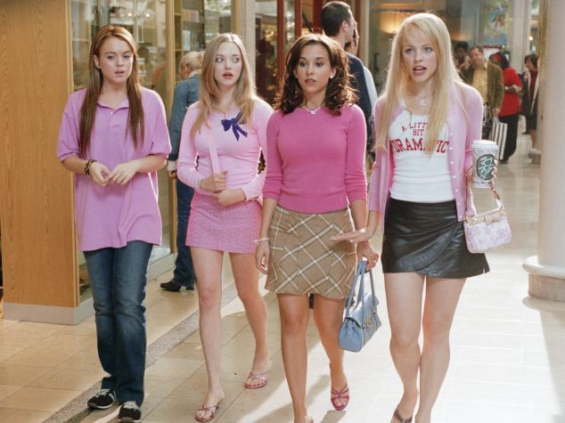 Dressing the part: Lindsay Lohan (left) learns the importance of being one of the popular crowd in Mean Girls - but is being ordinary better...