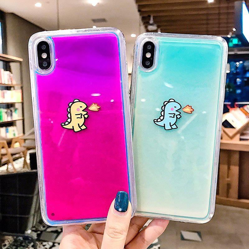 Dark Liquid Glitter Quicksand iPhone Case