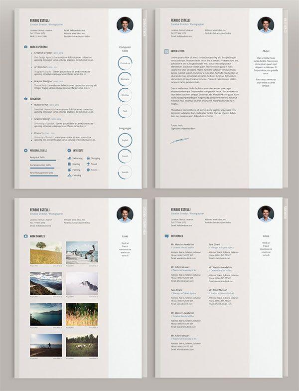 Free Resume Cv Templates In Psd Ai Indesign Pdf Word Format Creative Cv Template Resume Kreatif Desain Resume