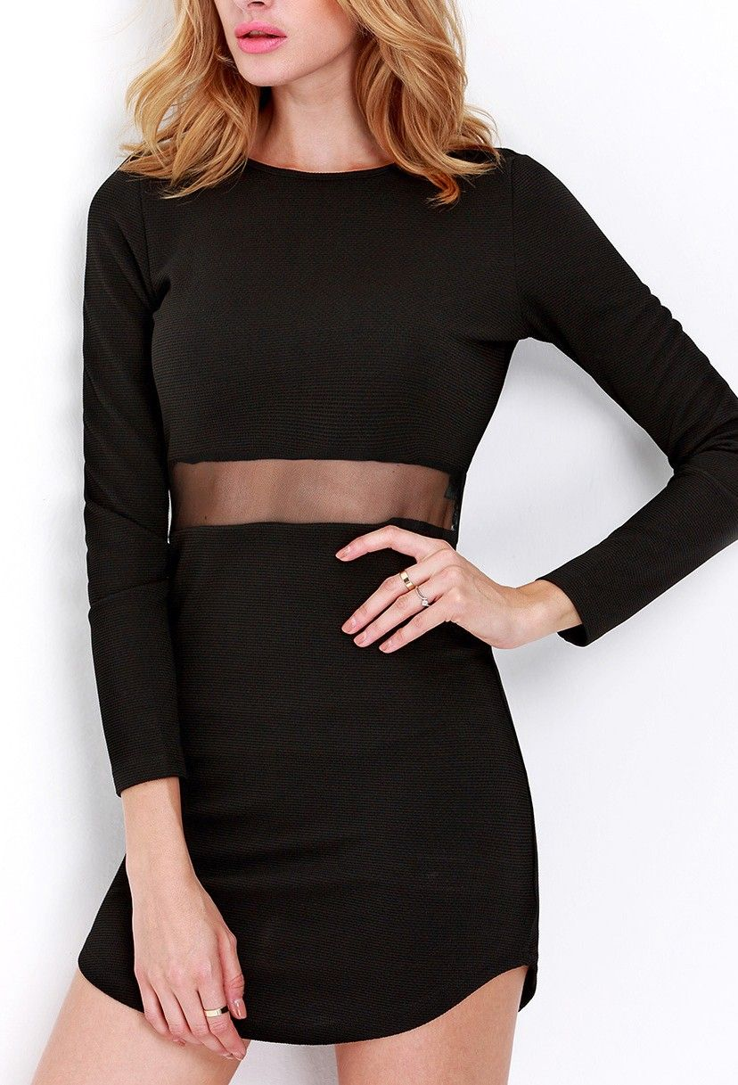 Long sleeve slim bodycon dress fits so comfortably and looks so