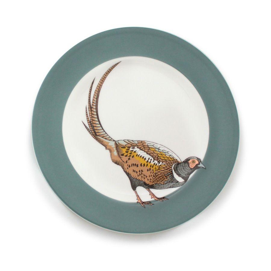 Jersey Pottery - Faunus Plate - Pheasant - Pheasant  sc 1 st  Pinterest & Jersey Pottery - Faunus Plate - Pheasant - Pheasant   Bird plates ...