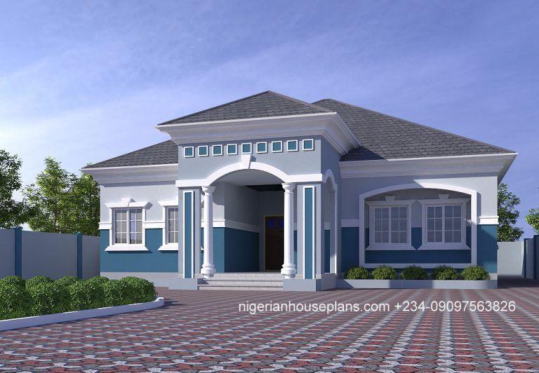 4 Bedroom Bungalow Ref 4029 Nigerianhouseplans Bungalow Design Bungalow House Floor Plans Modern Bungalow House Design