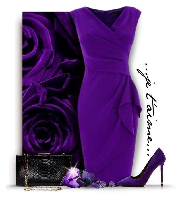 """Purple Roses"" by debraelizabeth ❤ liked on Polyvore featuring Nicholas Kirkwood, Salvatore Ferragamo, Diesel and David Yurman"