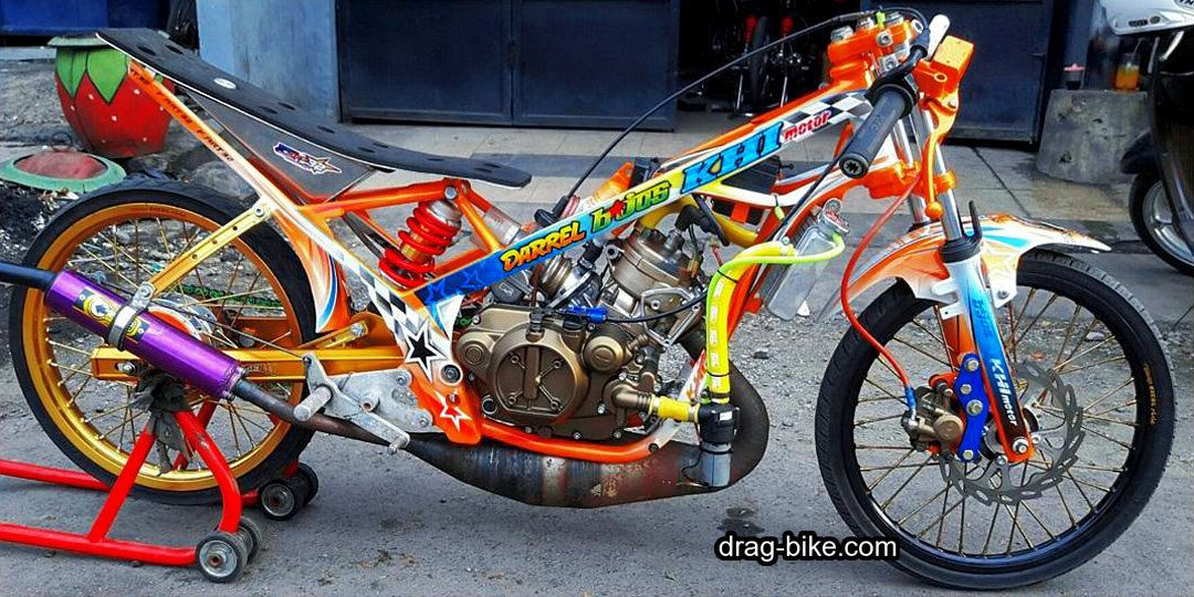Modifikasi Motor Drag Liar Ninja R 150 Di 2020 Gambar Sepeda