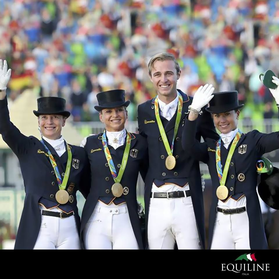 Golden win for Dorothee Schneider! Our ambassador for dressage has won a gold medal as a member of Germany's Dressage Team at Rio Olympics.