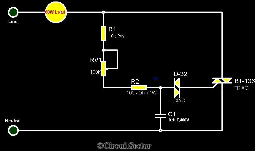 Simple Electronic Fan Regulator Circuit PCB schematic