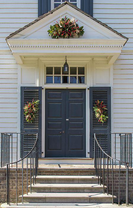 Doors Of Williamsburg 101 By Teresa Mucha In 2020 Porch Steps Colonial Williamsburg Front Porch Steps