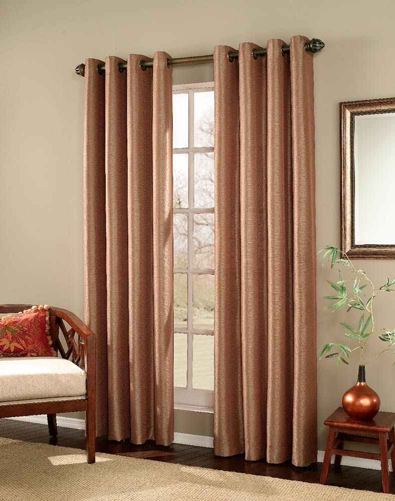 Captivating Meridian Copper Grommet Window Curtain Panel Larg 788
