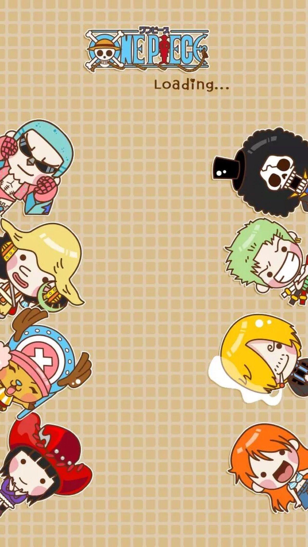 Chibi One Piece Lockscreens