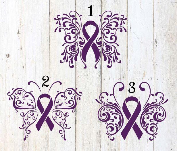 Lupus Awareness Ribbon  Vinyl Wall Decal or Car Sticker