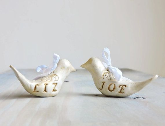 Lovebirds Wedding Gift Personalized Ornament Love Birds Decoration Anniversary Wedding Gift Two Turtle Doves Christmas Ornaments Unique Wedding Gifts Love Birds Wedding Personalized Christmas Ornaments
