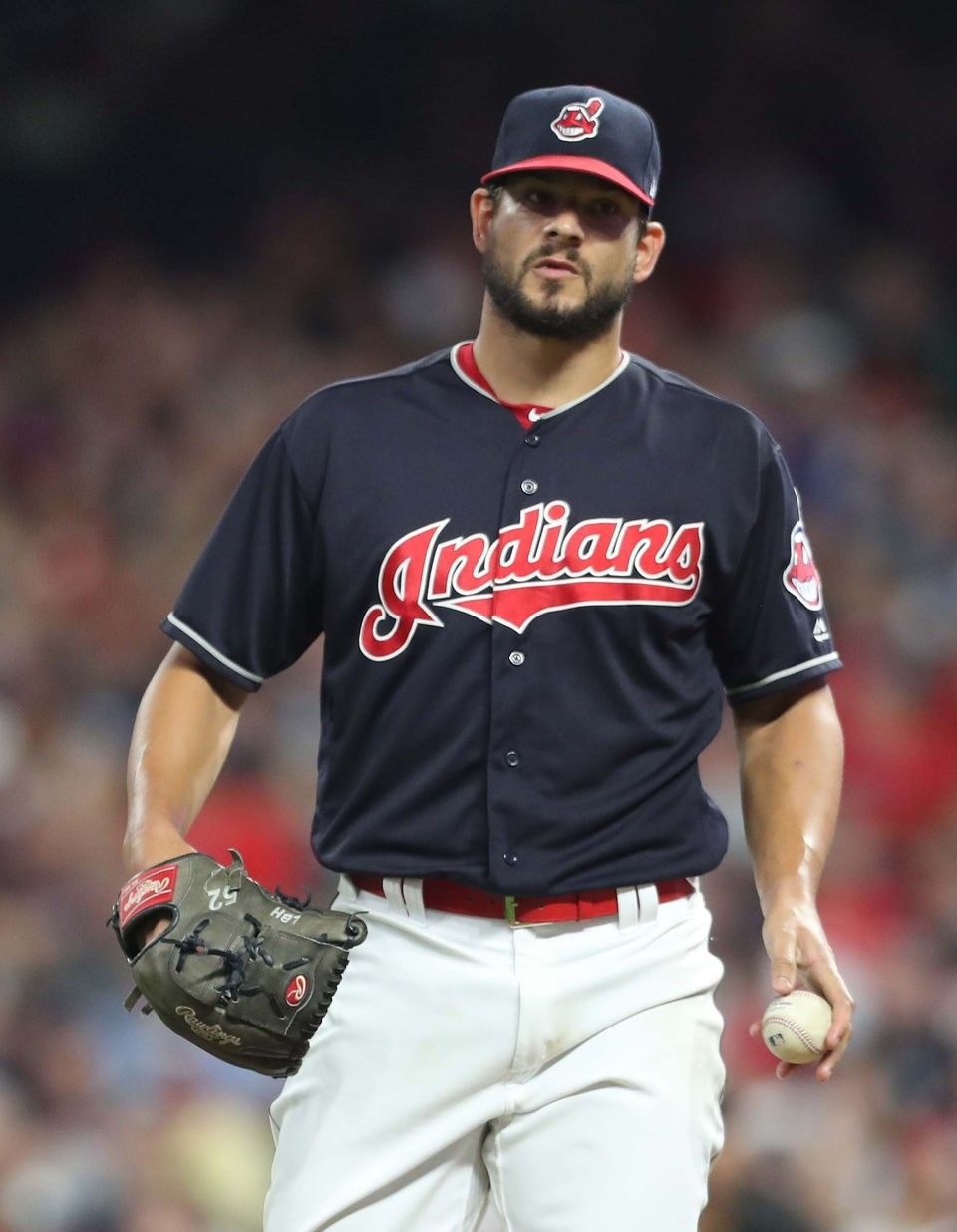 Cleveland Indians Brand Hand came on in the 8th and gave